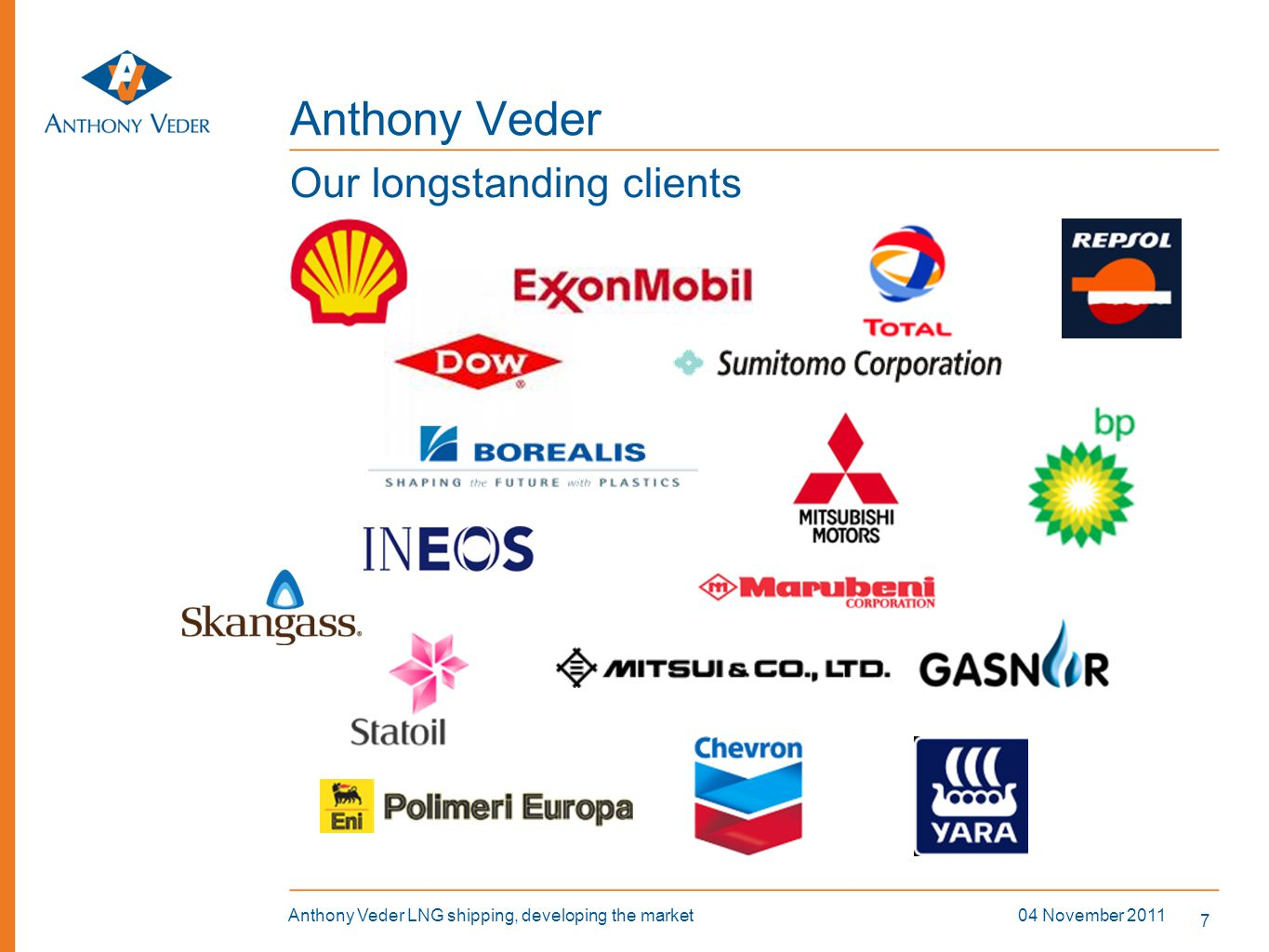 Anthony Veder Our longstanding clients