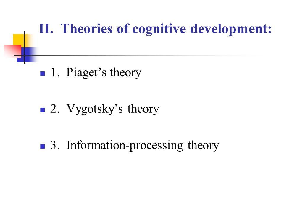 II. Theories of cognitive development: