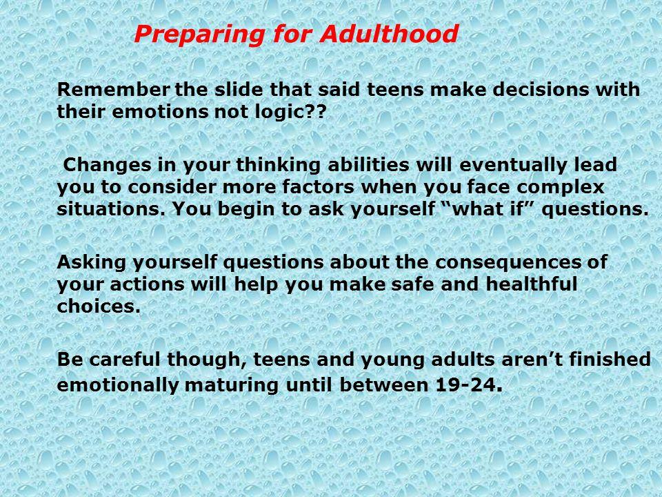 Preparing for Adulthood