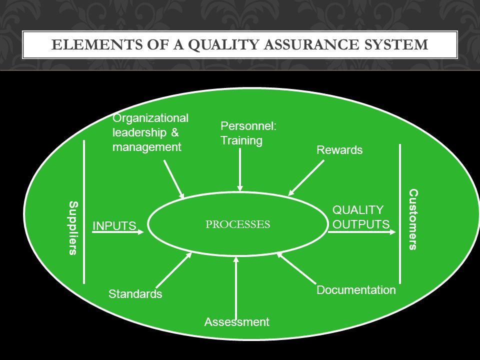 ELEMENTS OF A QUALITY ASSURANCE SYSTEM