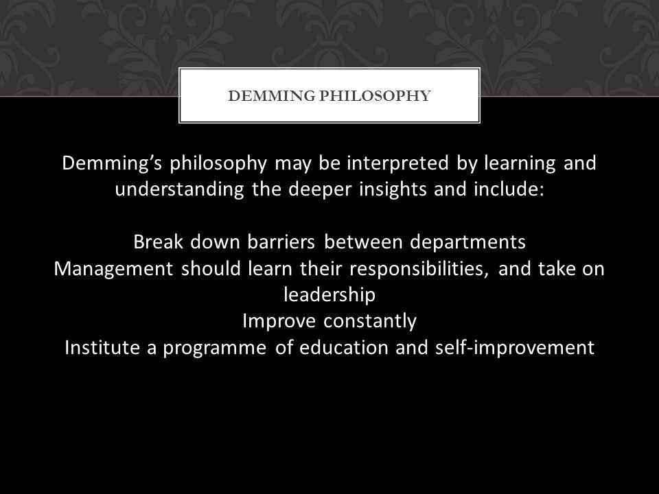 Break down barriers between departments