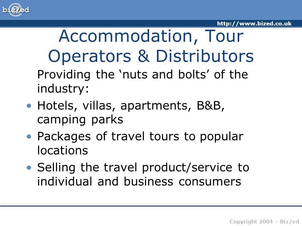 Accommodation, Tour Operators & Distributors