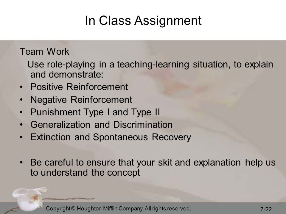 In Class Assignment Team Work