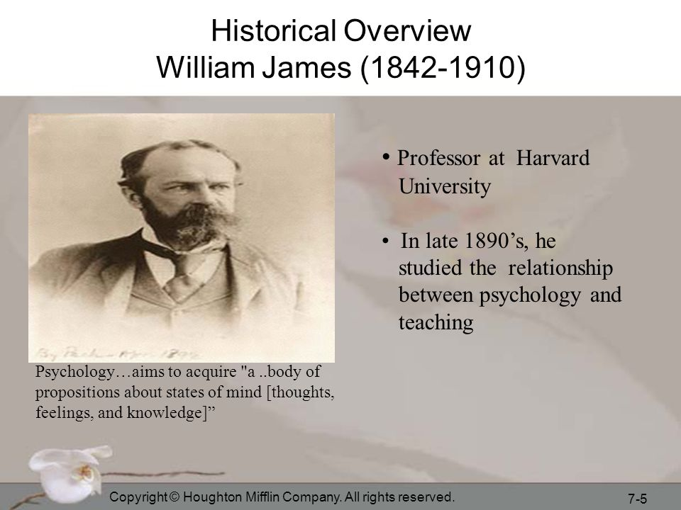 Historical Overview William James (1842-1910)