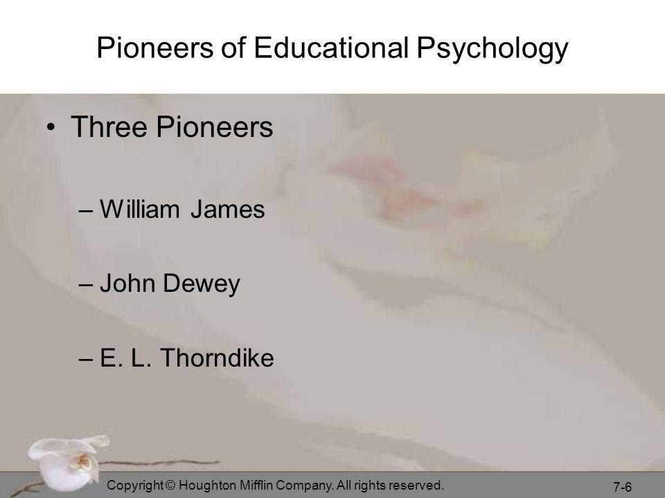 Pioneers of Educational Psychology