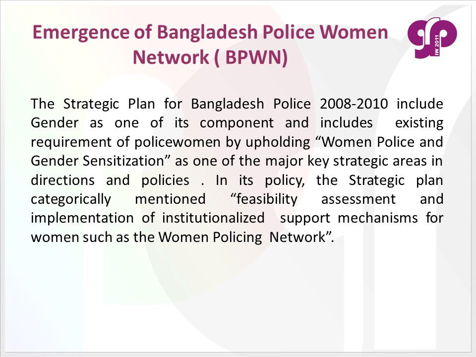 Emergence of Bangladesh Police Women Network ( BPWN)