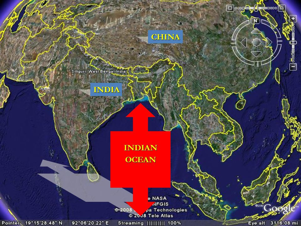 CHINA INDIA INDIAN OCEAN