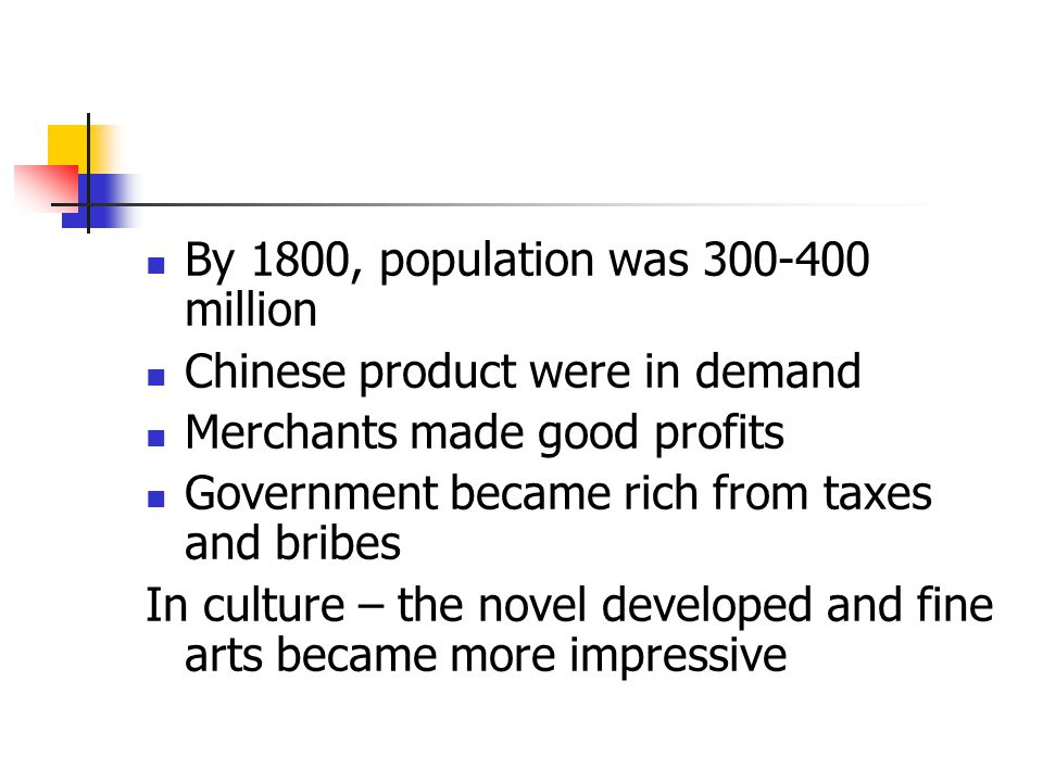 By 1800, population was 300-400 million