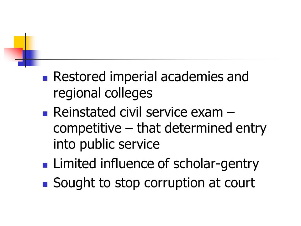 Restored imperial academies and regional colleges