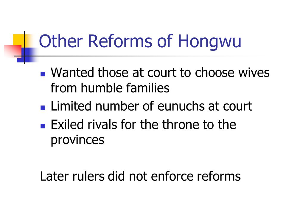 Other Reforms of Hongwu