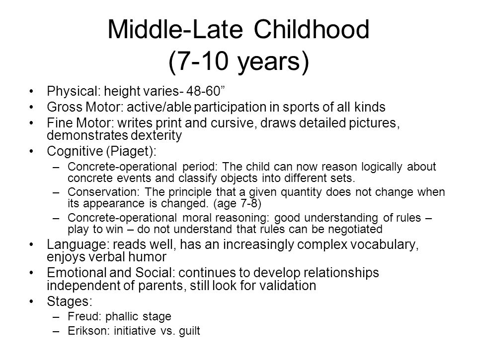 motor development in late childhood Hyperkinesis of childhood with developmental develop at different rates some learn to talk early (especially girls), some late a kids early communication skills are more likely to give a picture of this featurekids can have isolated motor development problems and be mentally normal.