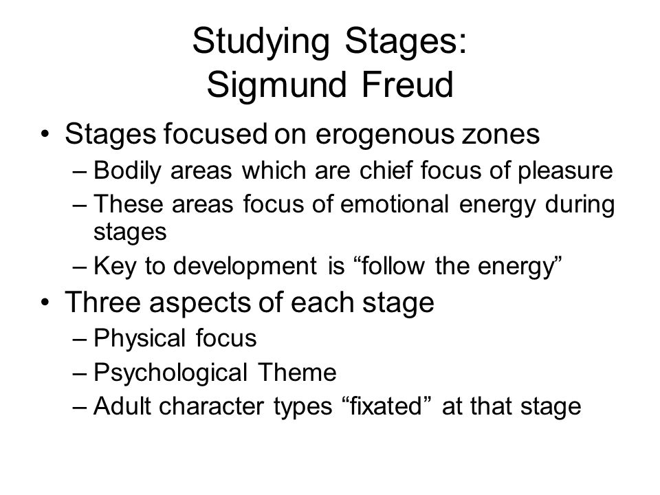 Studying Stages: Sigmund Freud