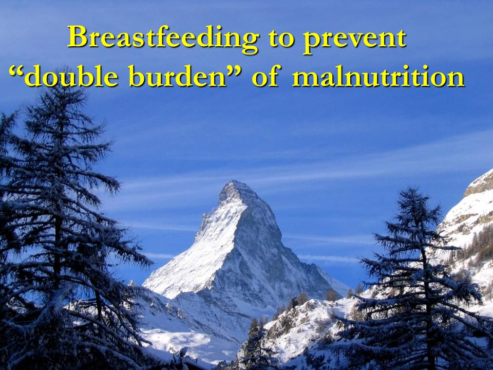 Breastfeeding to prevent double burden of malnutrition