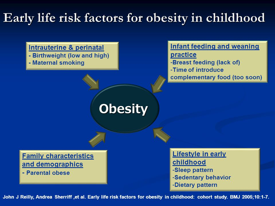 Early life risk factors for obesity in childhood