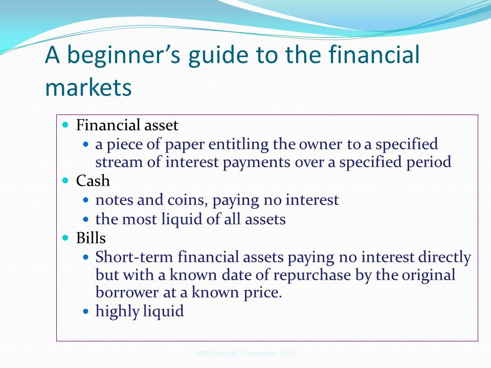 A beginner's guide to the financial markets