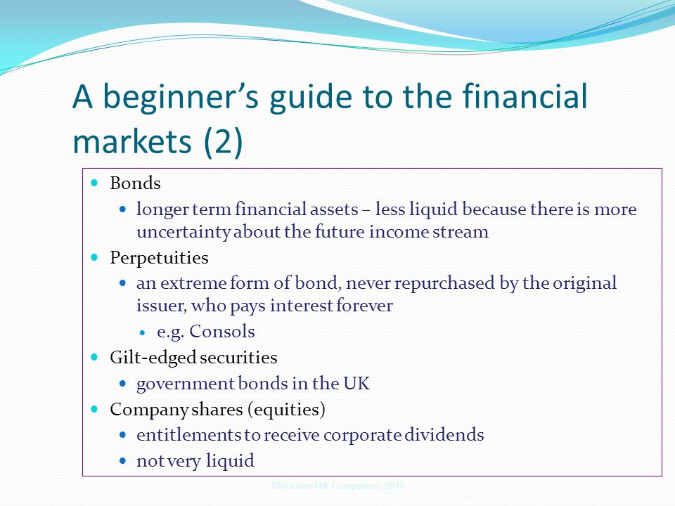 A beginner's guide to the financial markets (2)