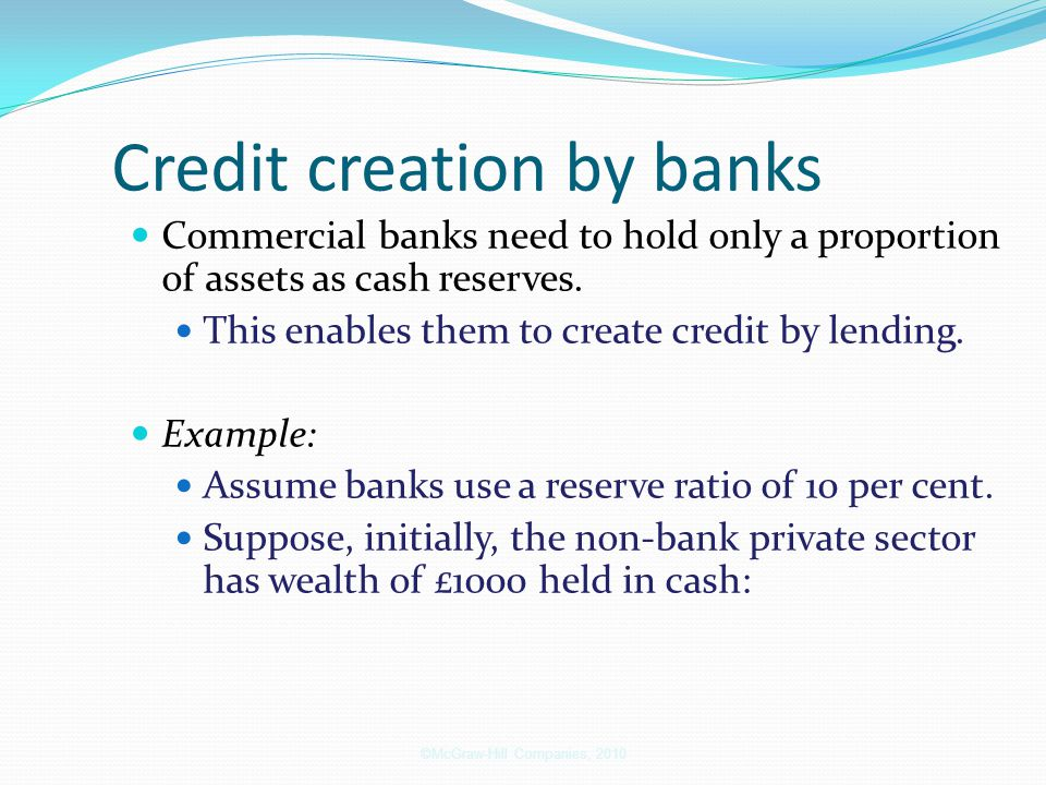 Credit creation by banks
