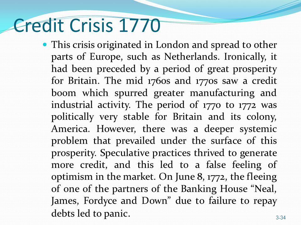 Credit Crisis 1770