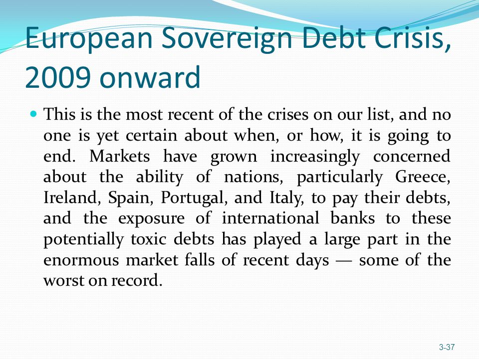 European Sovereign Debt Crisis, 2009 onward