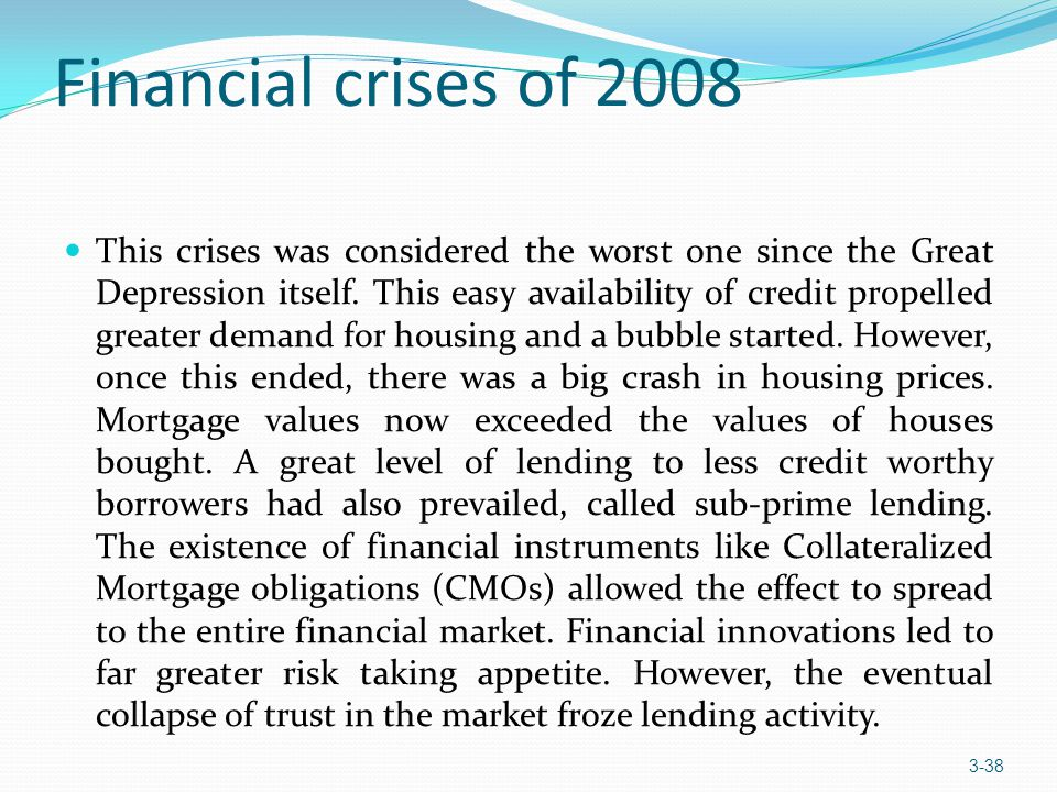 Financial crises of 2008
