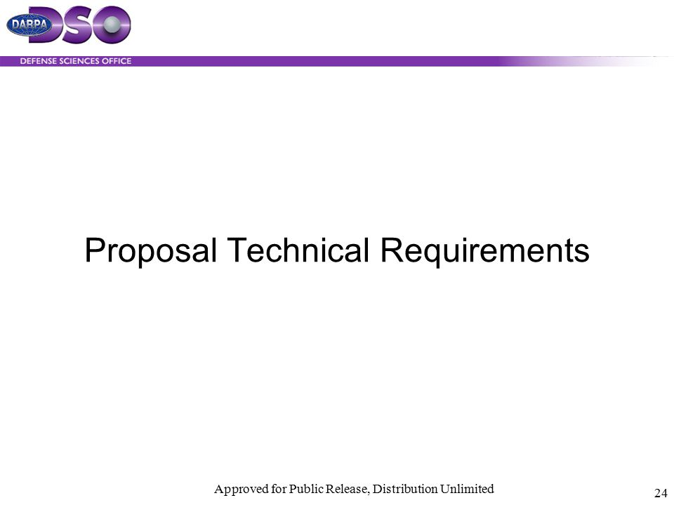 Proposal Technical Requirements