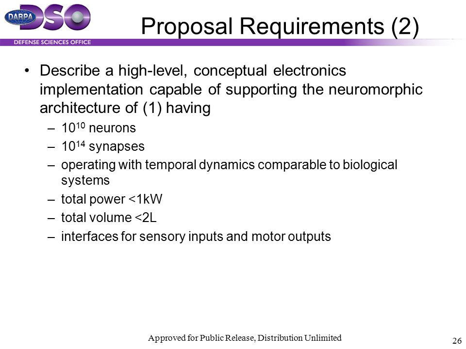 Proposal Requirements (2)