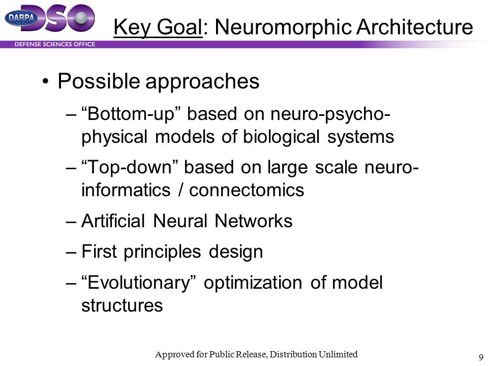 Key Goal: Neuromorphic Architecture