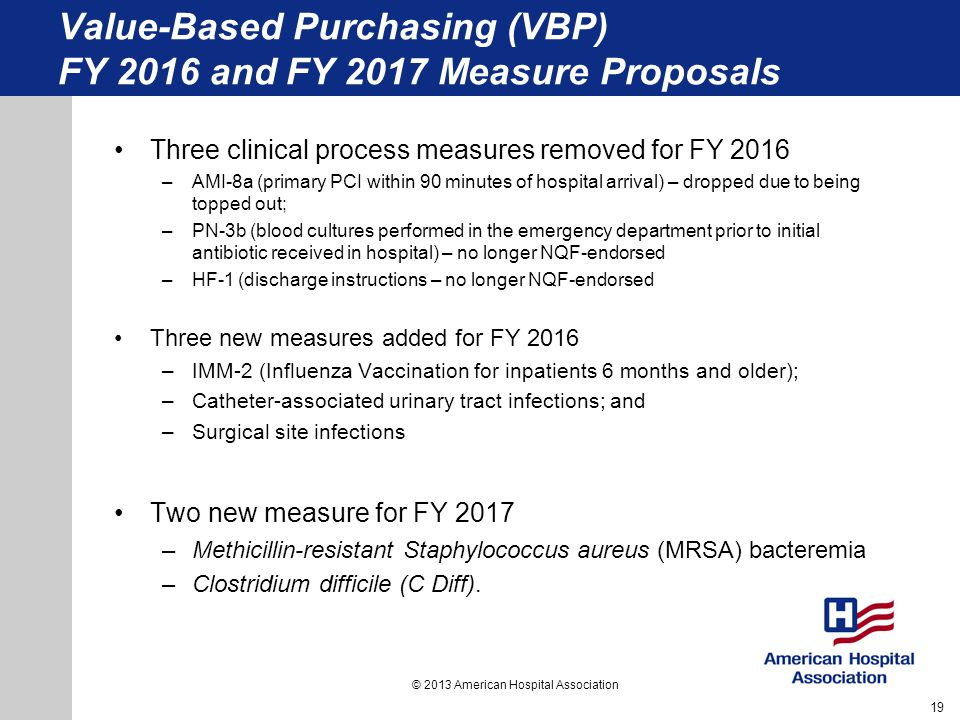 Value-Based Purchasing (VBP) FY 2016 and FY 2017 Measure Proposals