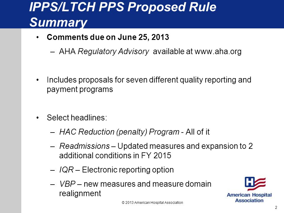 IPPS/LTCH PPS Proposed Rule Summary