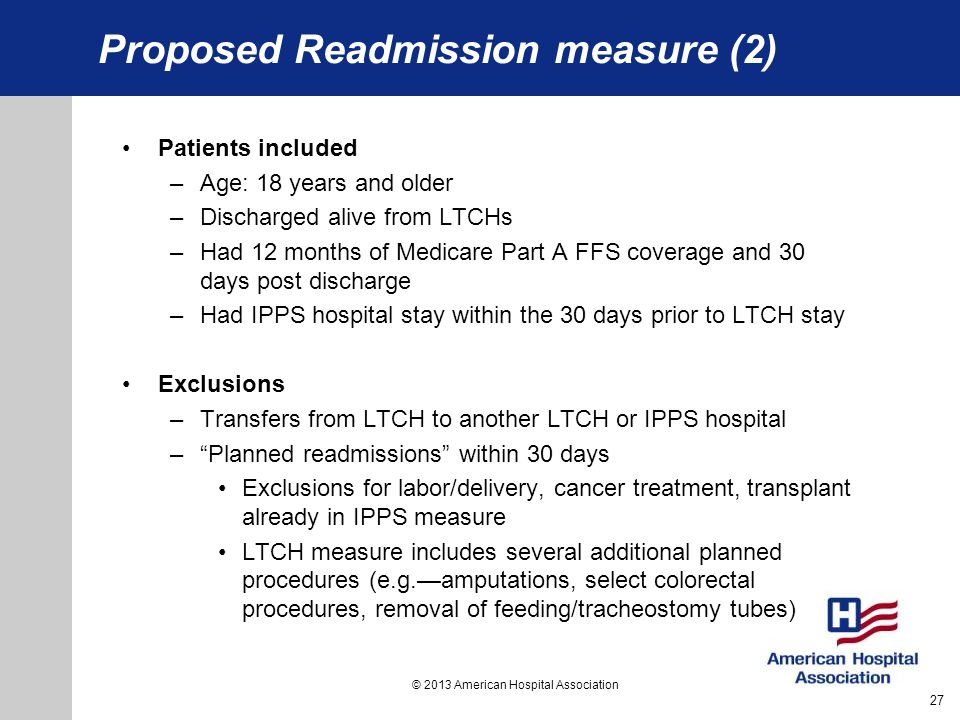 Proposed Readmission measure (2)