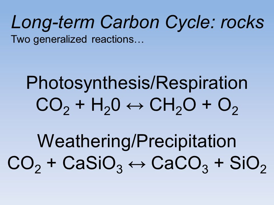 Long-term Carbon Cycle: rocks