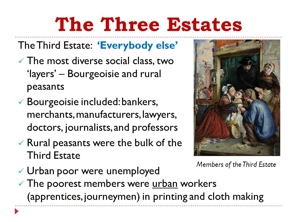The Three Estates The Third Estate: 'Everybody else'