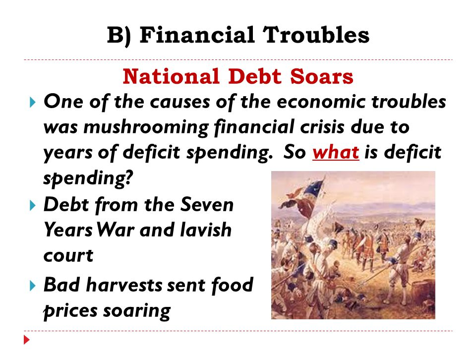 B) Financial Troubles National Debt Soars