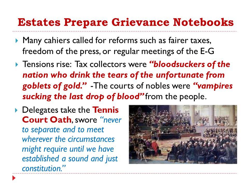Estates Prepare Grievance Notebooks