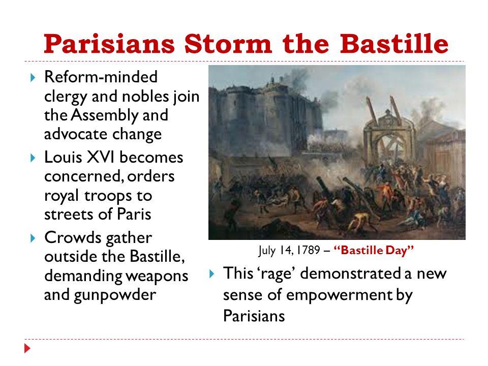 Parisians Storm the Bastille