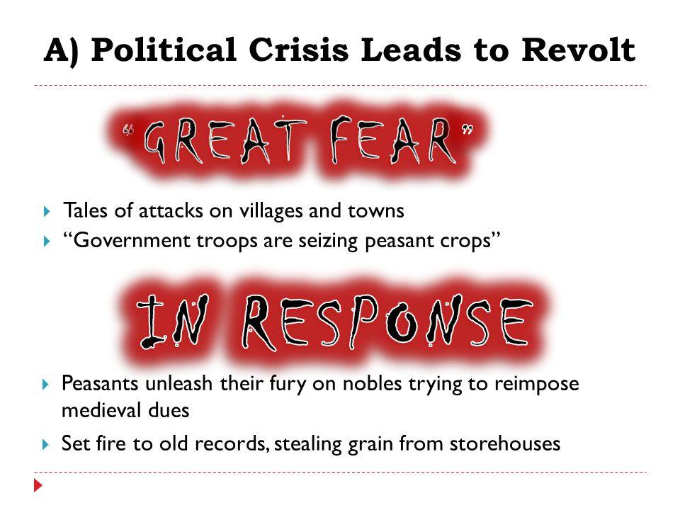 A) Political Crisis Leads to Revolt