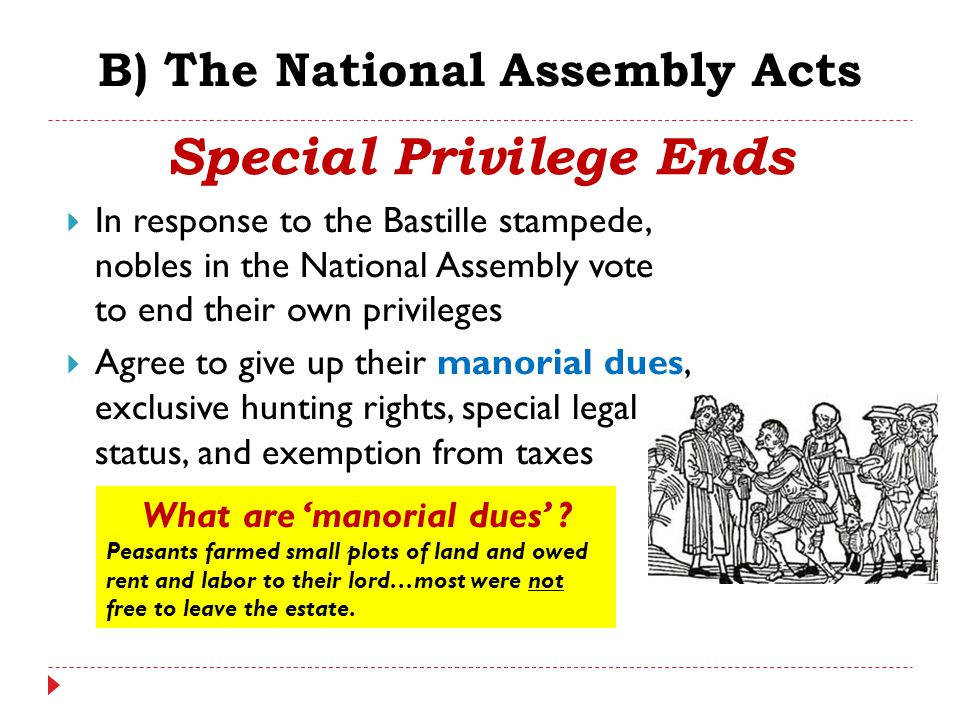 B) The National Assembly Acts