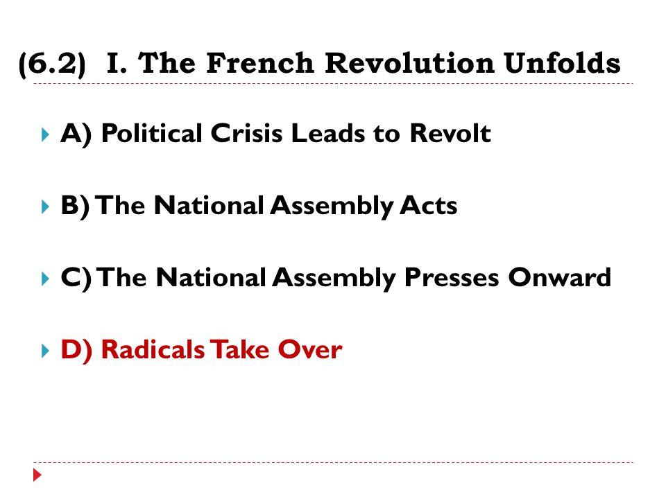 (6.2) I. The French Revolution Unfolds