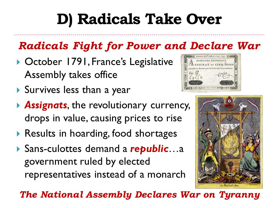 D) Radicals Take Over Radicals Fight for Power and Declare War
