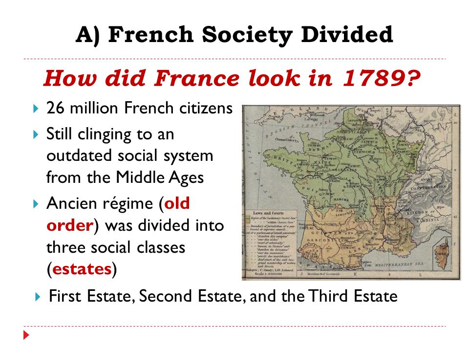 A) French Society Divided