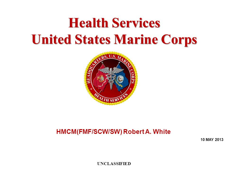 United States Marine Corps HMCM(FMF/SCW/SW) Robert A. White