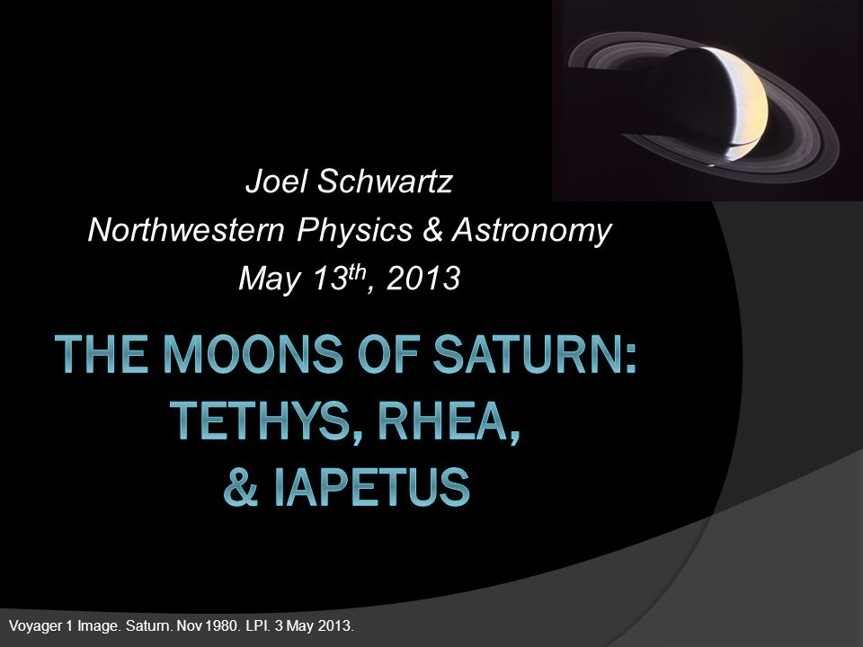 The Moons of Saturn: Tethys, Rhea, & Iapetus