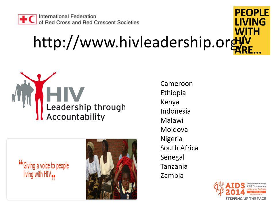 http://www.hivleadership.org/ Cameroon Ethiopia Kenya Indonesia Malawi