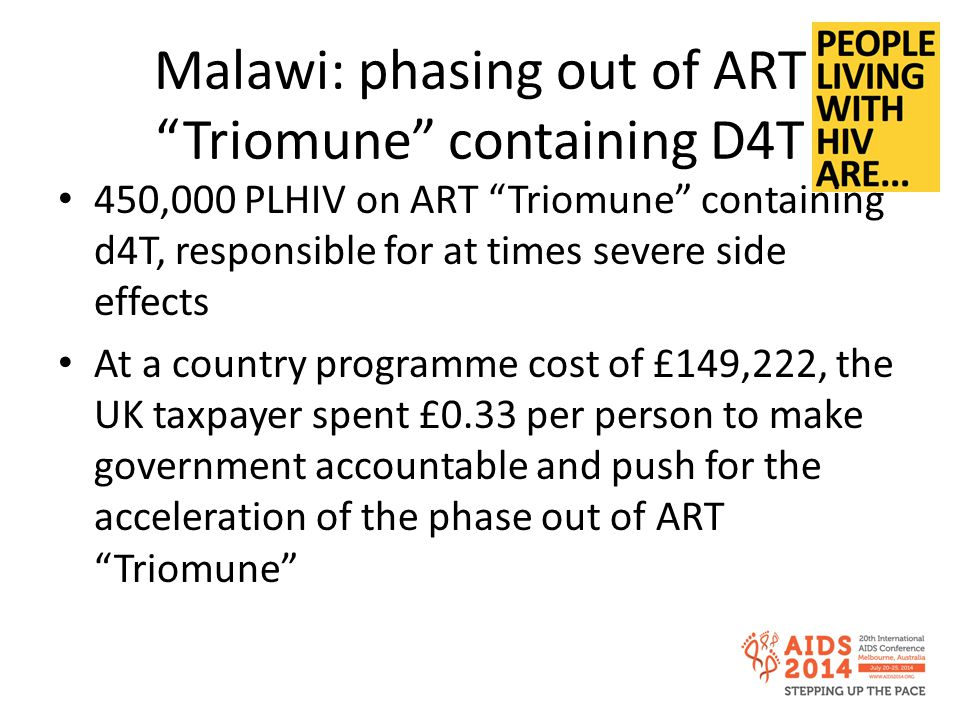 Malawi: phasing out of ART Triomune containing D4T