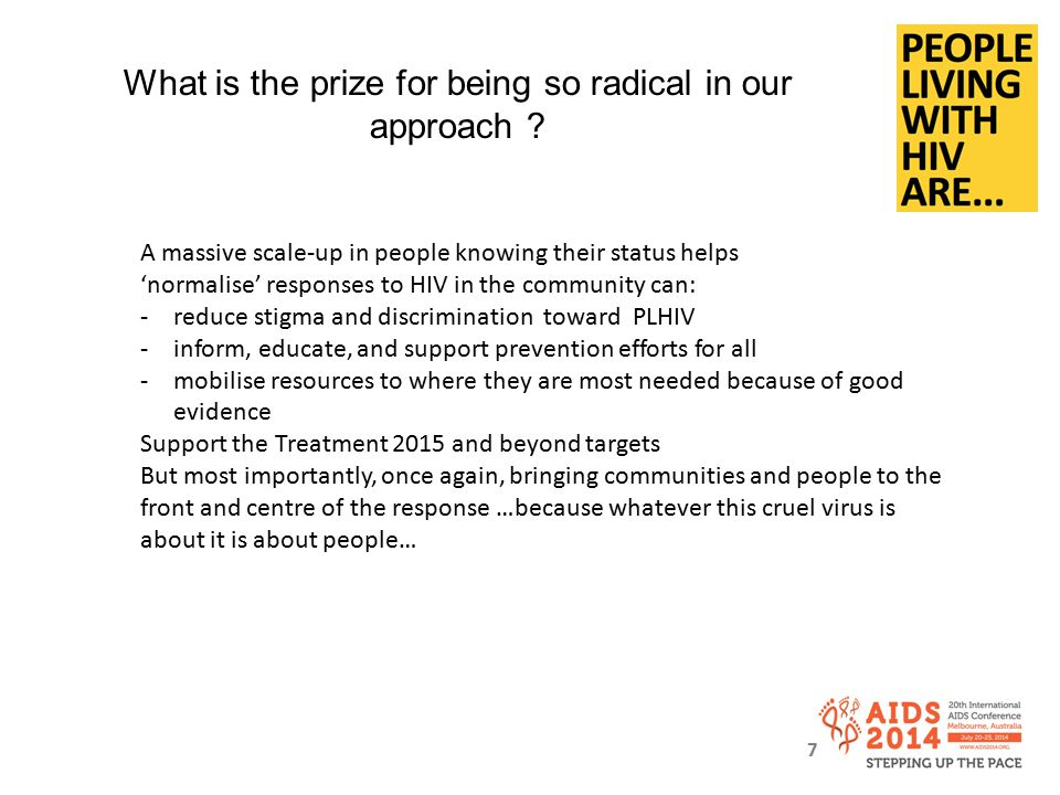 What is the prize for being so radical in our approach