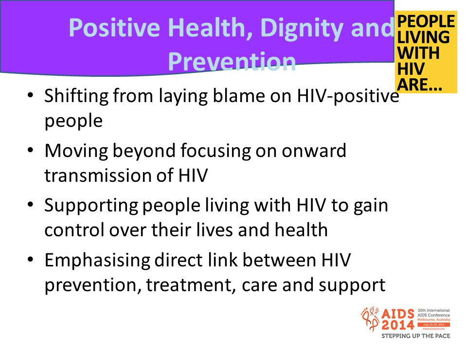 Positive Health, Dignity and Prevention