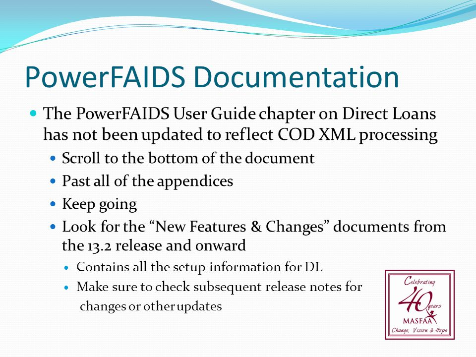 PowerFAIDS Documentation