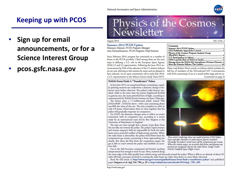 Upcoming PCOS/PhysPAG Community Interaction Opportunities