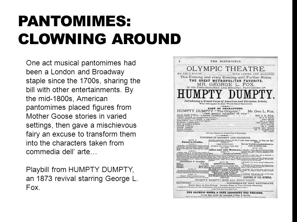 Pantomimes: Clowning Around