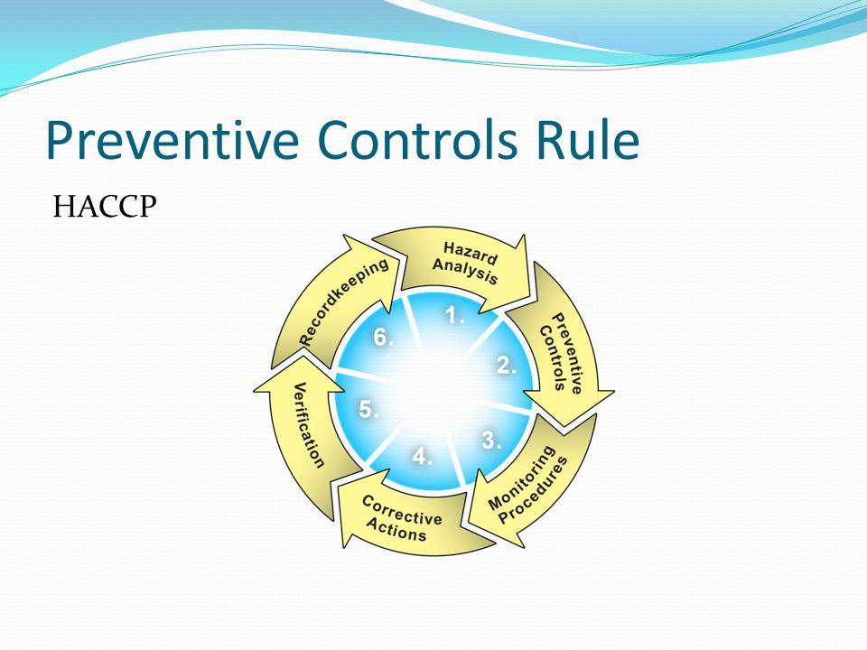 Preventive Controls Rule